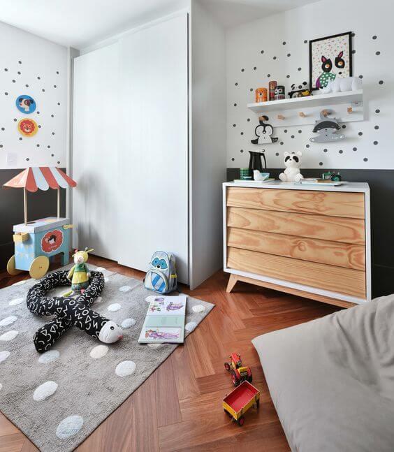 Guarda roupa com cômoda infantil