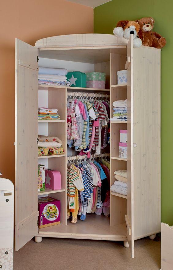 Guarda roupa infantil de canto
