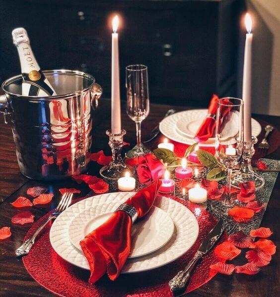 Ideias para dia dos namorados com decoração romântica