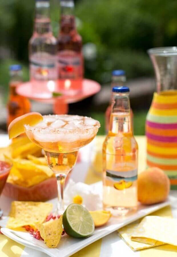 mesa de bebidas para festa mexicana Foto Pinterest