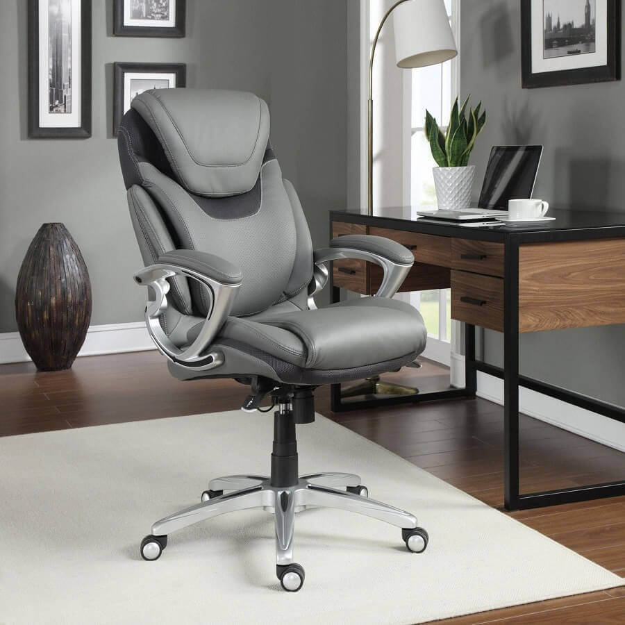 modelo confortável de cadeira de escritório presidente Foto Pinterest