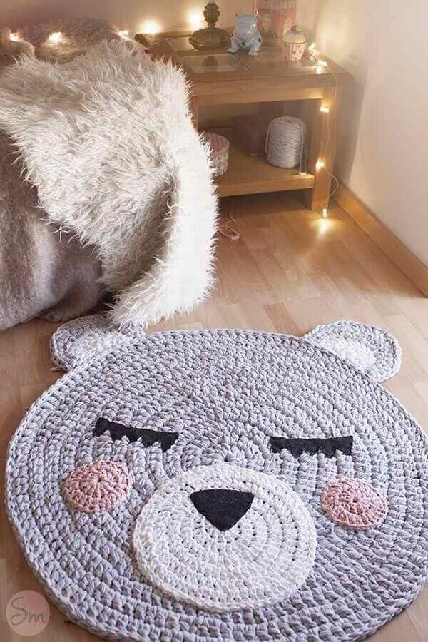 modelo lúdico de tapete de crochê para quarto infantil Foto Yandex