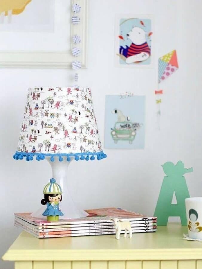 modelo simples de abajur infantil Foto Pinterest