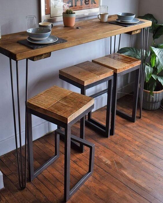 Aposte nos móveis de ferro para decorar sua casa moderna