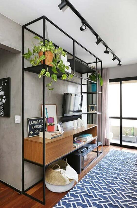 Use os móveis de ferro onde combinar com a decoração