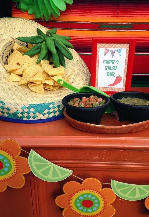 nachos inside shade for Mexican party menu Photo Pinterest