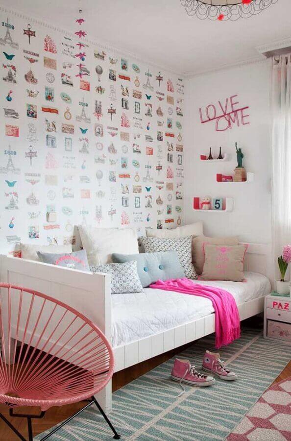papel de parede para decoração de quarto de solteiro feminino simples Foto We Love It