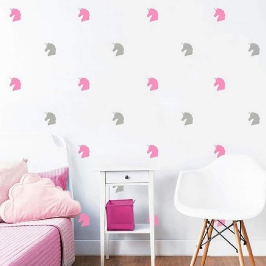 papel de parede para quarto unicórnio simples Foto Amora Adesivos