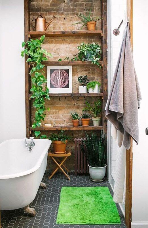 Plantas pequenas para banheiro bem decorado