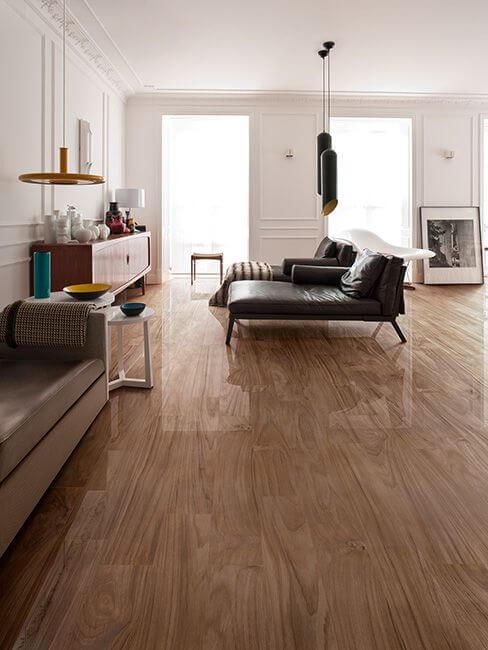 Porcelanato de madeira para casa moderna