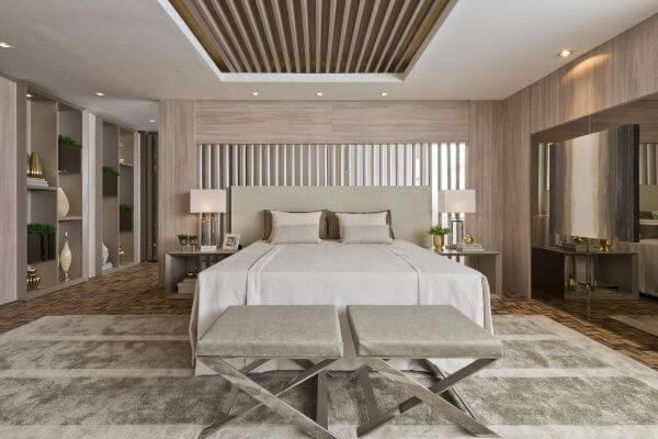 Quarto com cama box casal moderno