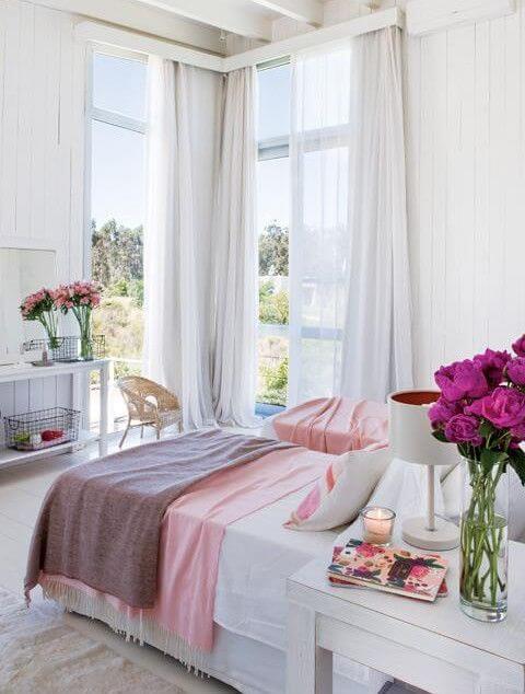 Cortinas neutras são lindas para quartos