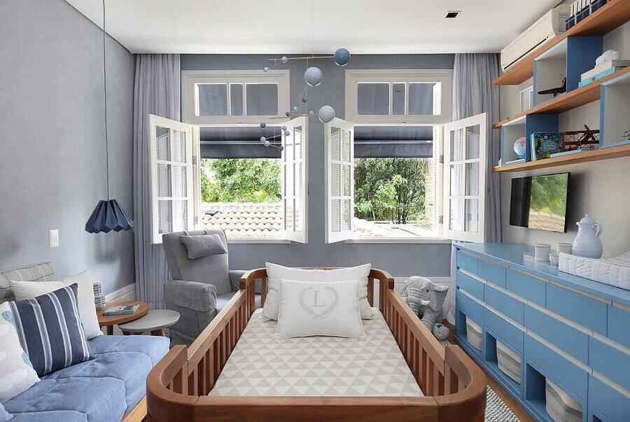 quarto de bebê planejado masculino Foto Patrícia Bergantin