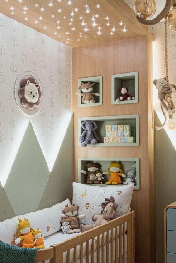quarto de bebê planejado moderno com nichos embutidos Foto Pinterest