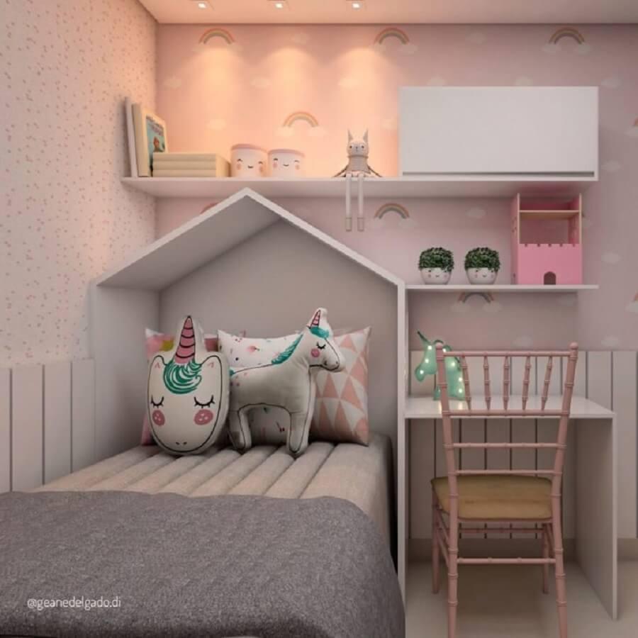 quarto do unicórnio planejado com decoração moderna Foto Geane Delgado
