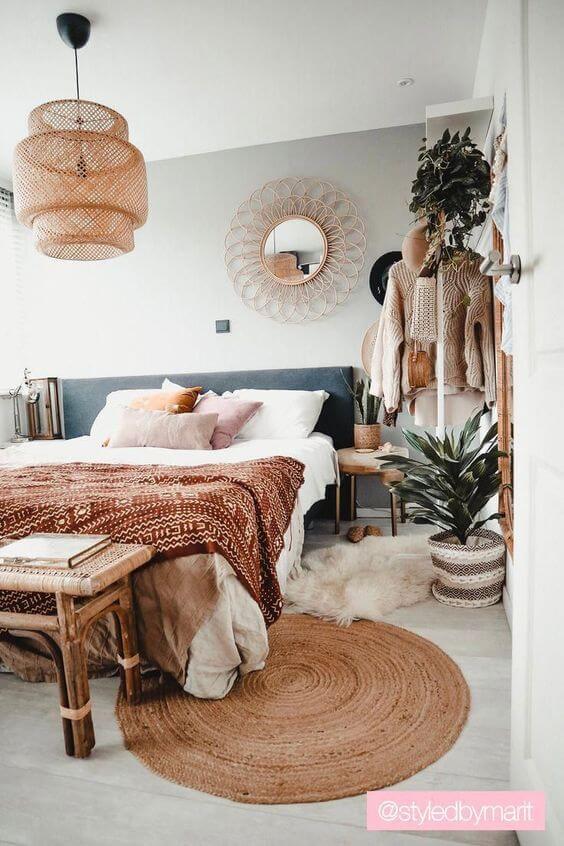 Quarto moderno com cama box casal