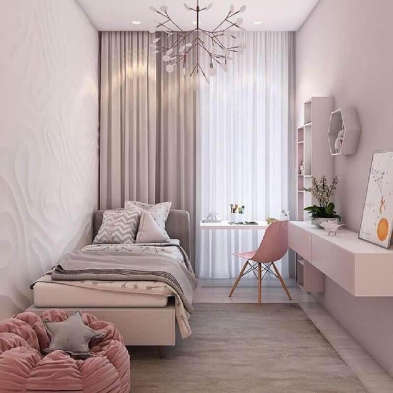 quartos bonitos femininos planejado Foto Pinterest