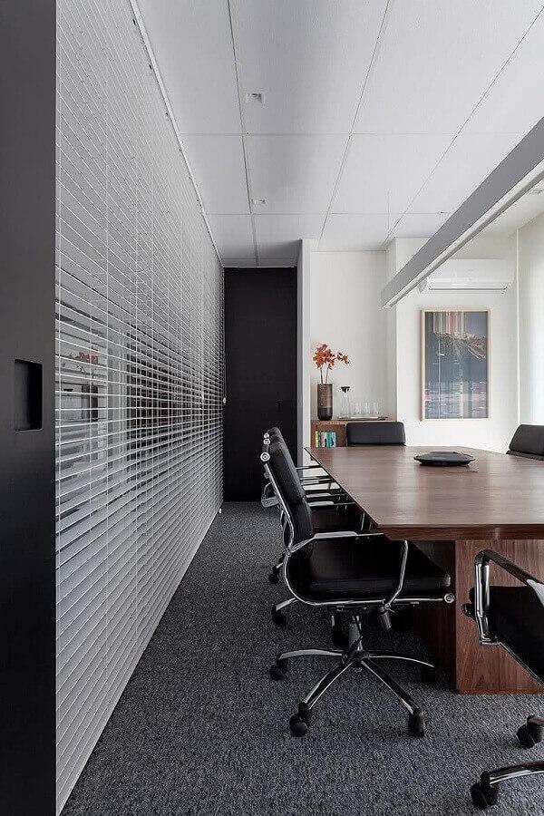 sala de reunião decorada com cadeira de escritório preta Foto Architecture Art Designs
