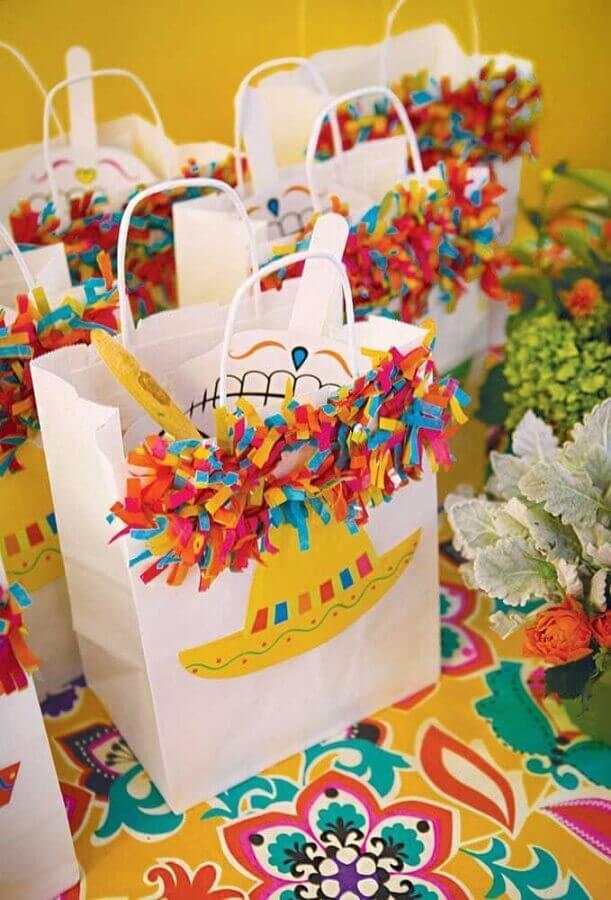 saquinhos de lembrancinhas para festa mexicana Foto Pinterest