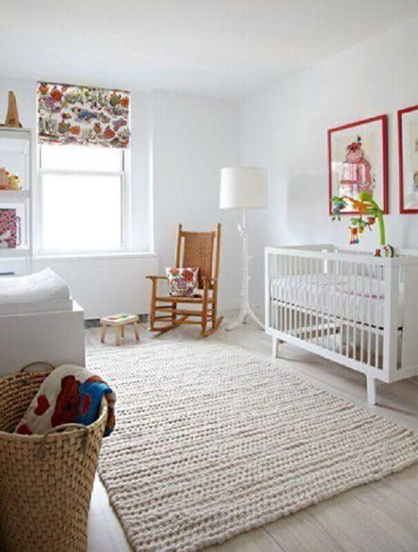 tapete de crochê para quarto de bebê clean todo decorado em cores neutras Foto Home Fashion Trend
