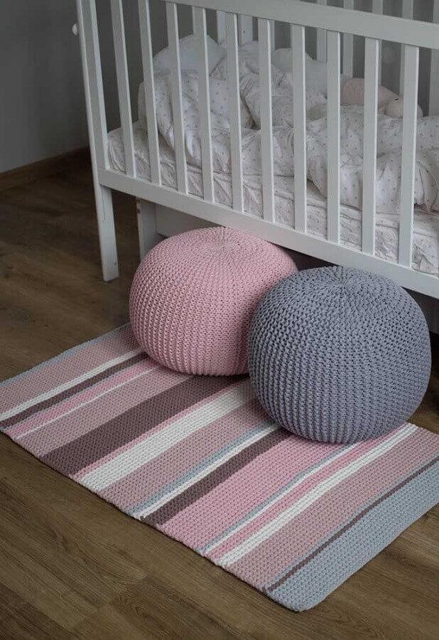 tapete de crochê para quarto de bebê simples Foto Pinterest