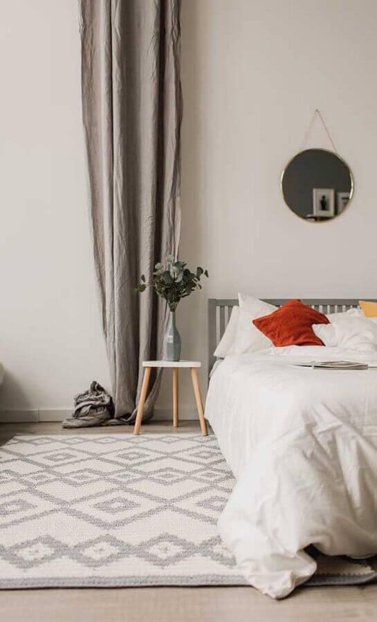 tapete de crochê para quarto de casal minimalista Foto Houzz