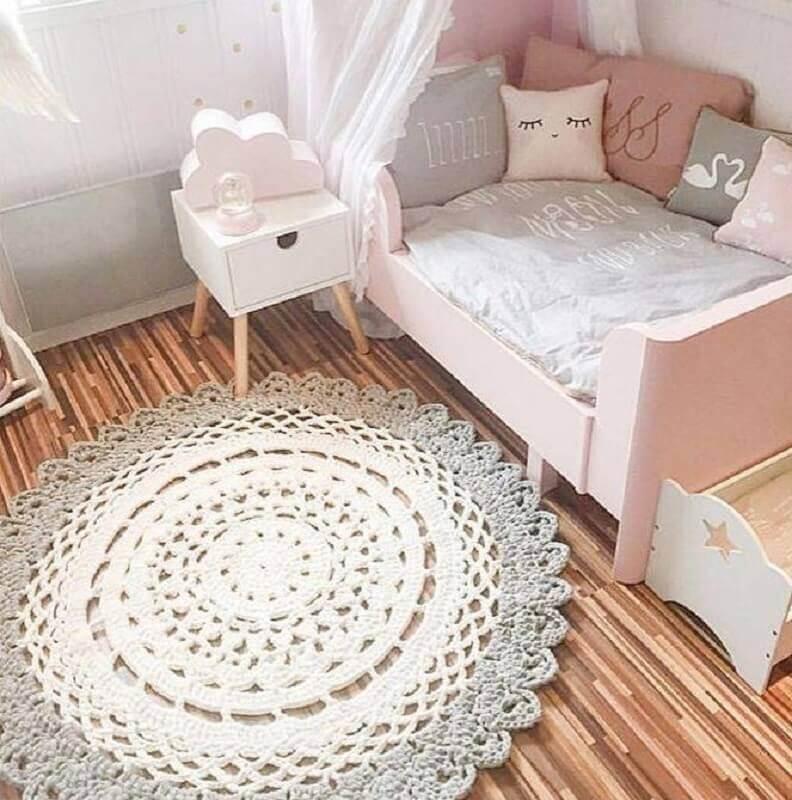 tapete de crochê para quarto infantil Foto Arquidicas