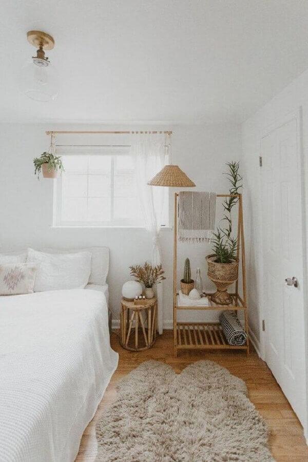 tapete felpudo para decoração de quarto todo branco Foto Futurist Architecture