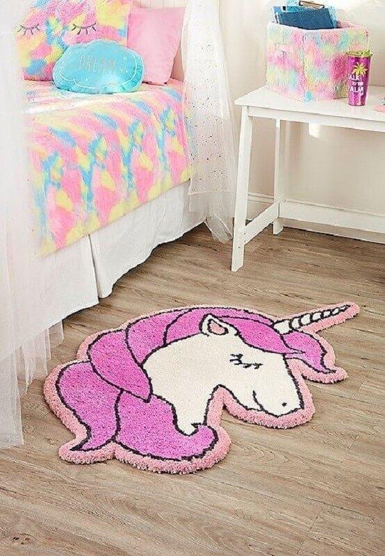 tapete para decoração de quarto do unicórnio Foto Pinterest