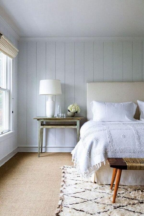 tapete para quarto de casal com decoração clean Foto Futurist Architecture