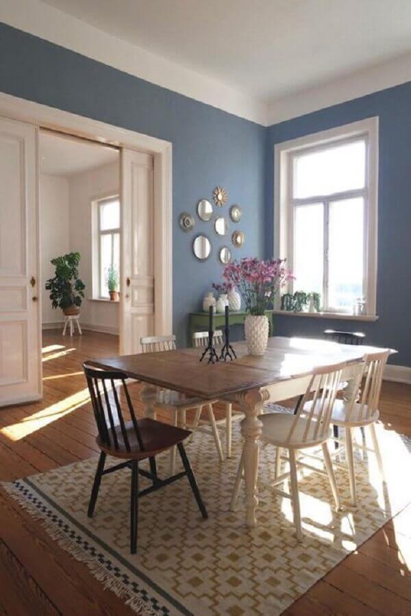 tapete para sala de jantar simples Foto Pinterest