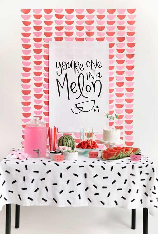 tema melancia para decoração festa infantil simples bonita Foto Pinterest
