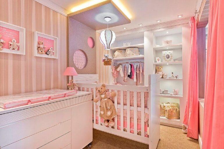 4. Tons de rosa são os mais usados para a decoração de quarto de bebê planejado feminino - Foto: Archello