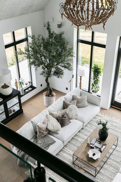 Vaso grande na sala de estar