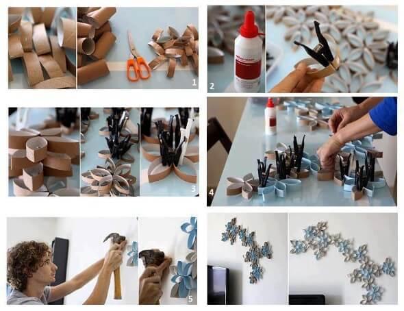 Artesanatos fáceis de fazer para decorar a casa com rolinho de papel higiênico