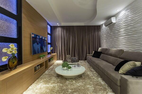 Curtains for living room modern, often have darker tones