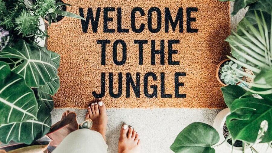 Modelo de capacho para casa urbar jungle