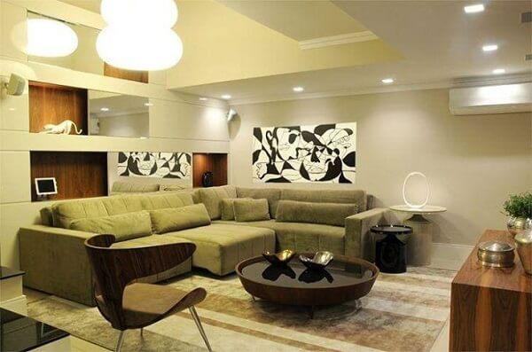 Modelo de sofá retrátil de canto esquerdo