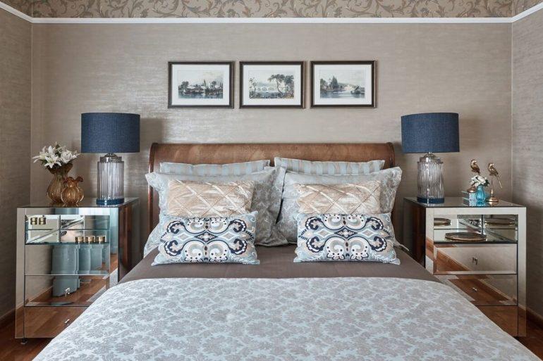 O criado mudo espelhado traz estilo e sofisticação ao quarto de casal