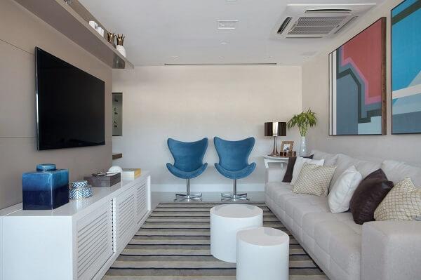 O feng shui sala posição dos móveis avalia o alinhamento das peças no ambiente