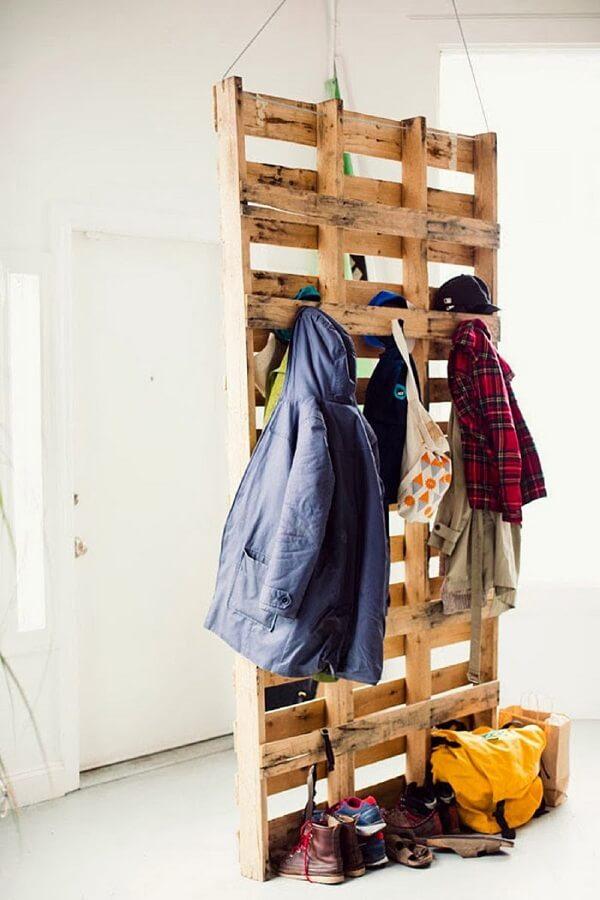 Os pallets foram usados sem acabament
