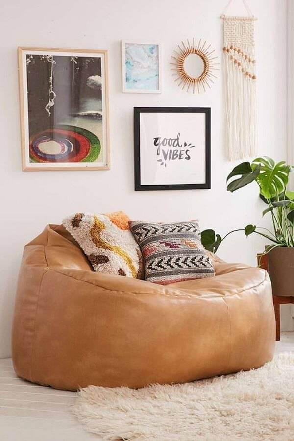 Puffs grandes para sala de estar aconchegante