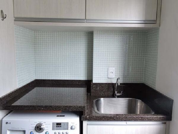 Use o café imperial granito no acabamento da sua lavanderia