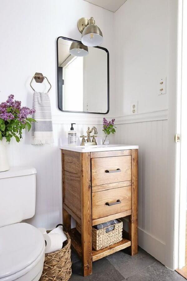 armário de banheiro rústico e simples Foto DIY & Home Decor
