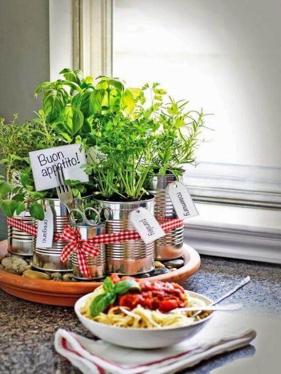 Monte um hortinha em casa com artesanatos fáceis
