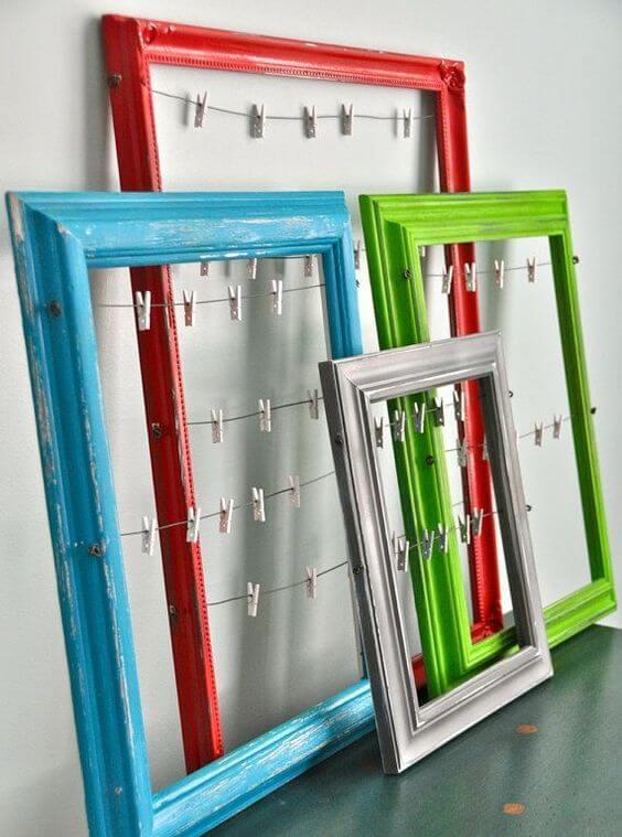 Artesanatos fáceis de fazer com quadros coloridos