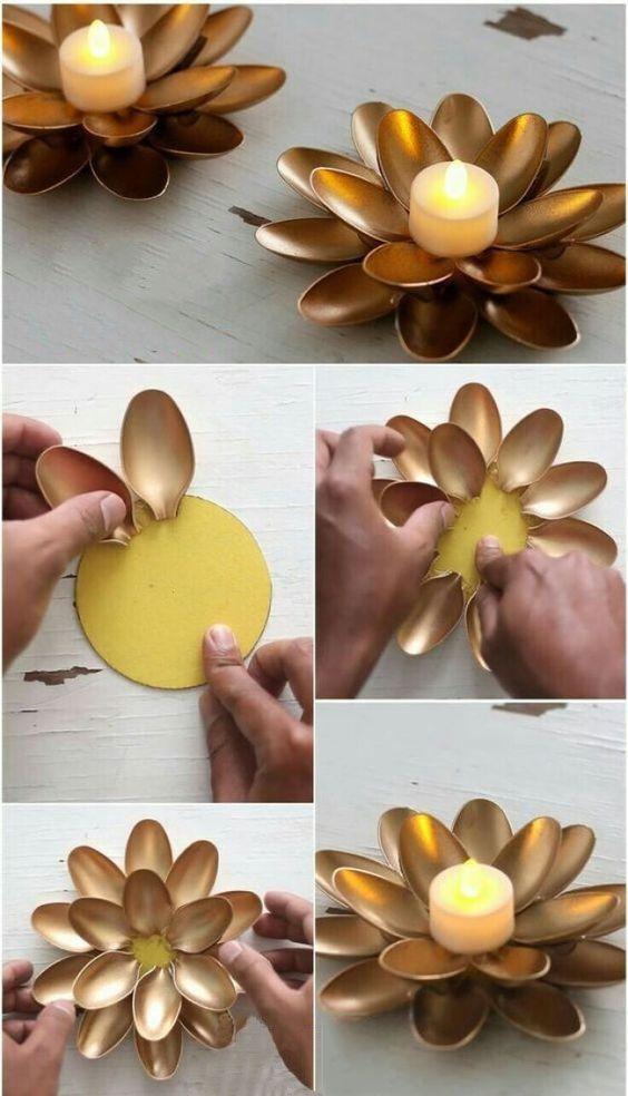 Artesanatos fáceis para usar como porta vela