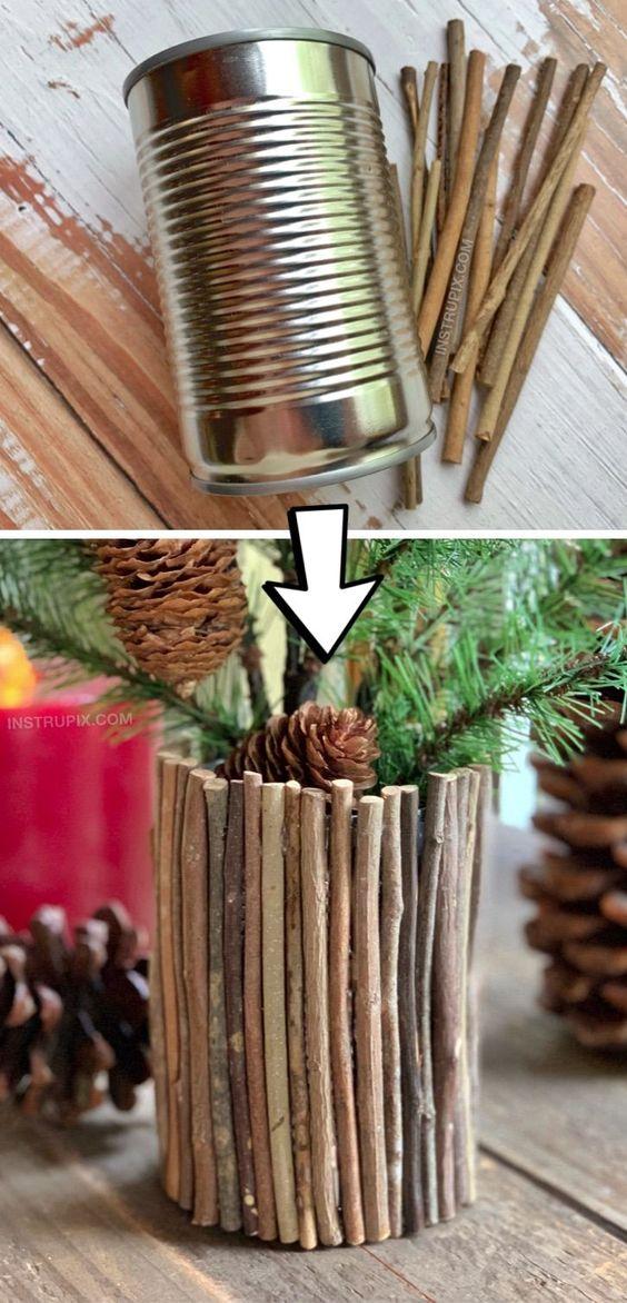 Artesanatos fáceis para vaso de plantas
