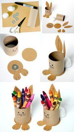 Artesanatos fáceis com rolo de papel