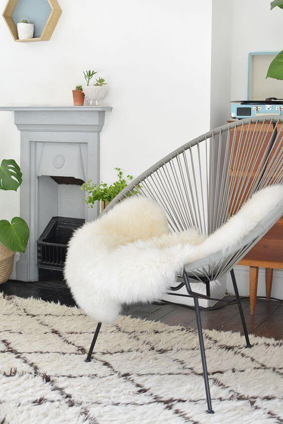 Cadeira acapulco cinza